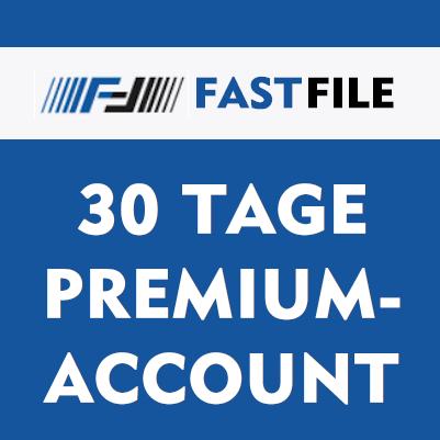 30 Tage Fastfile Premium