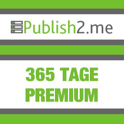 365 Tage Publish2Me Premium Account